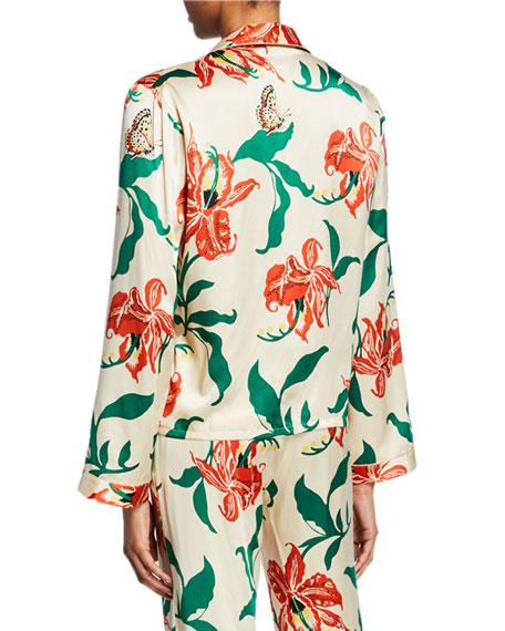 Morgan Lane Ruthie Floral-Print Pajama Top