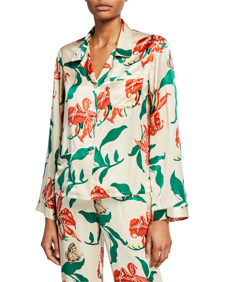 Morgan Lane RUTHIE FLORAL-PRINT PAJAMA TOP