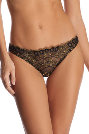 I.D. Sarrieri Golden Tulip Embroidered Brazilian Briefs
