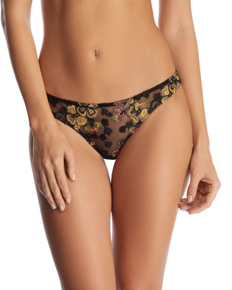 I.D. Sarrieri Midnight Delights Embroidered Thong