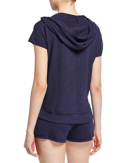 PJ Salvage USA Love Hooded Lounge Shirt