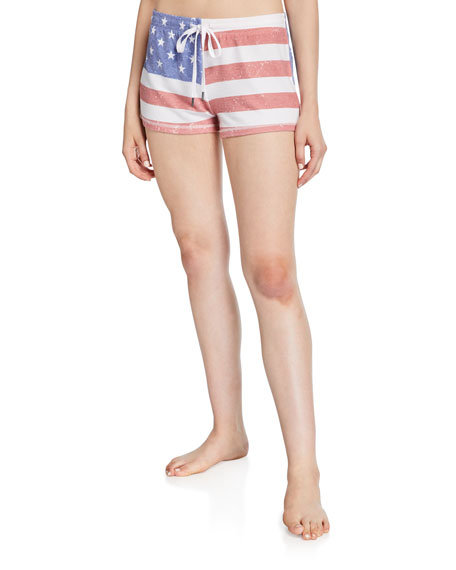 PJ Salvage American Flag Lounge Shorts