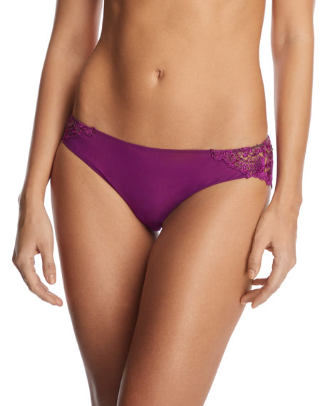I.d. Sarrieri ANNABELLE EMBROIDERED TULLE BRAZILIAN BRIEFS