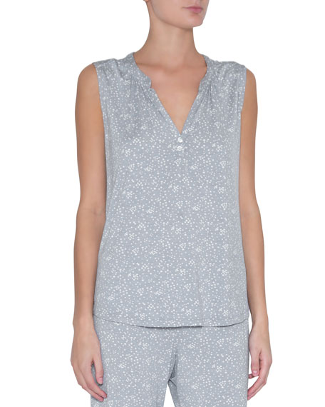 Eberjey Moon Dots Sleeveless Peasant Top
