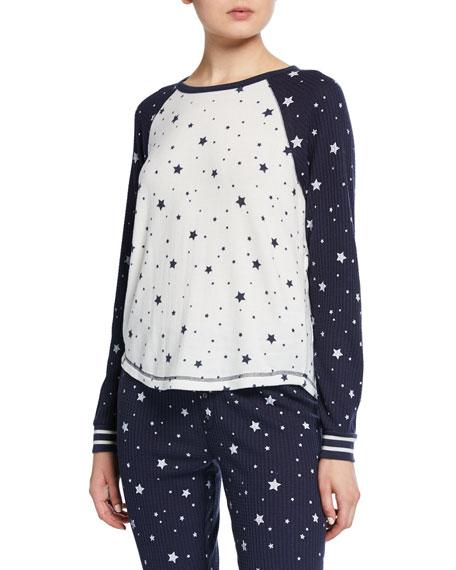 PJ Salvage Dream Star-Print Lounge Shirt