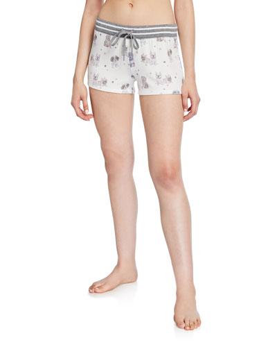 Pawfection Dog-Print Lounge Shorts