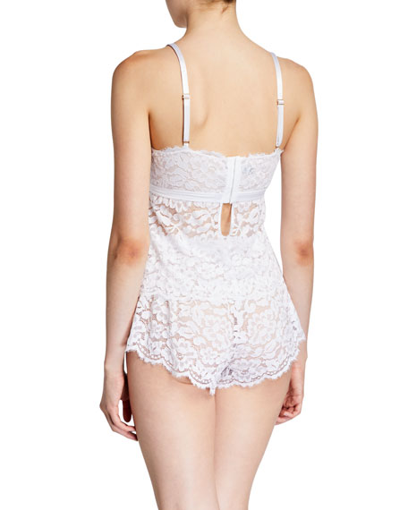 Image 2 of 2: Magnolia Lace Cami-Boxer Lounge Set