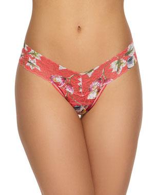 504d3ea7125 Hanky Panky Floral-Print Lace Low-Rise Thong