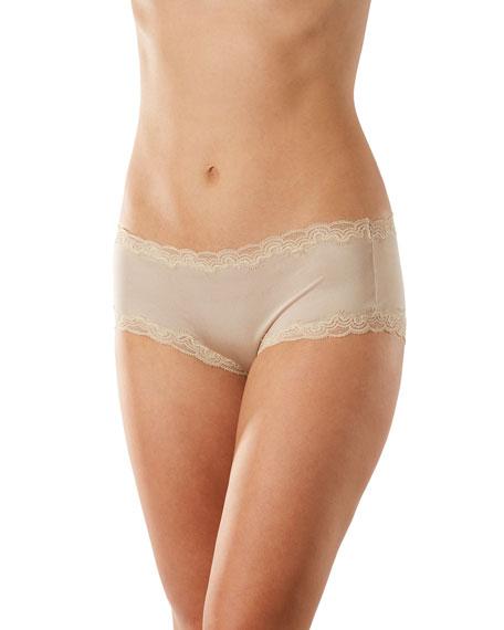 Uwila Warrior Soft Silks Lace-Trim Bikini Briefs