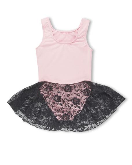 Girl Power Sport Ballet Power Skirted Leotard, Pink, Size 5-12