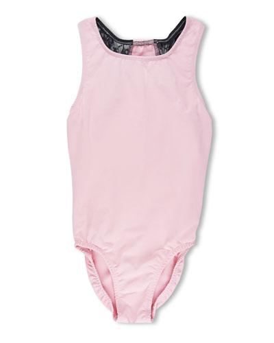 Ballet Power Lace Racerback Leotard  Pink  Size 5-12