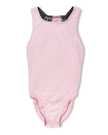 Image 1 of 2: Girl Power Sport Ballet Power Lace Racerback Leotard, Pink, Size 5-12