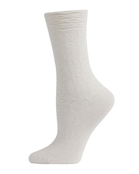 Natori 2-Pack Tonal Pattern Crew Socks
