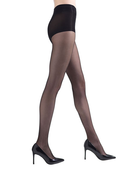 Natori 2-Pack Peacock Feather & Shimmer Sheer Tights