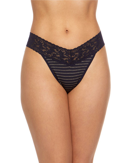 Hanky Panky Tops STRIPED ORIGINAL-RISE THONG