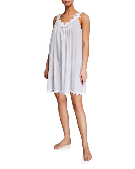 Celestine Palace Sleeveless Poplin Nightgown