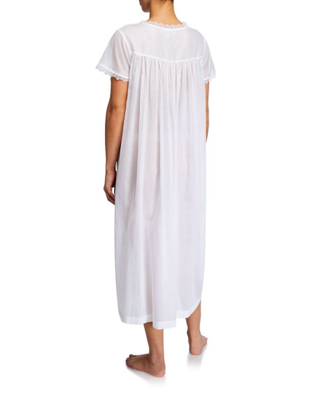 Celestine Valerie Lace-Yoke Nightgown
