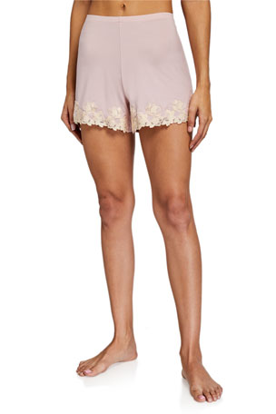 La Perla Brenda Lace-Trim Lounge Shorts