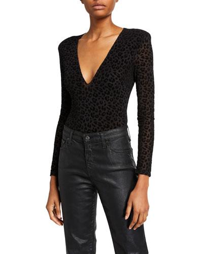 Inca Leopard-Print Bodysuit