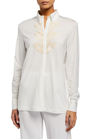 La Perla Brenda Long-Sleeve Pajama Top