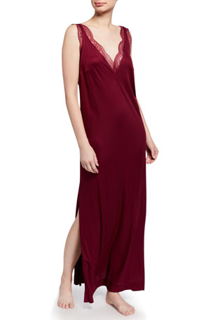 La Perla Bianca Lace-Trim Nightgown