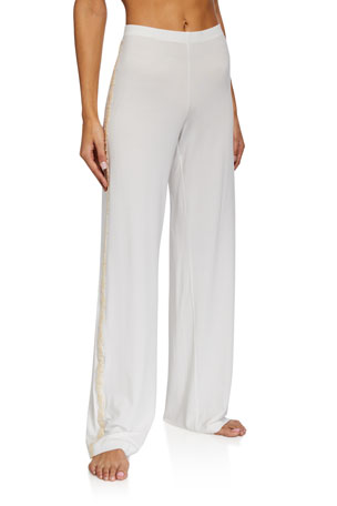La Perla Brenda Lace-Trim Long Pants