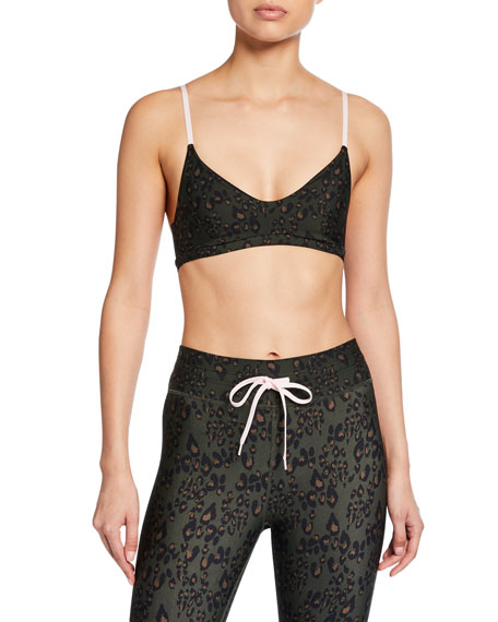 The Upside Leopard-Print Ballet Sports Bra