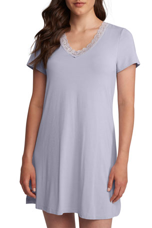 Fleur't The Iconic Lace-Trim Nightshirt