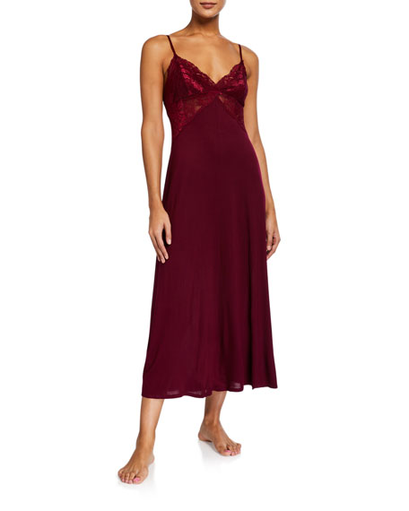 Jonquil Olivia Lace-Bodice Nightgown