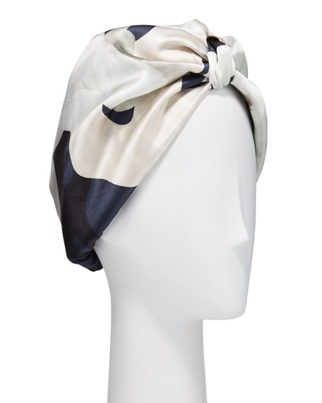 Violet & Wren Patterned Silk Turban