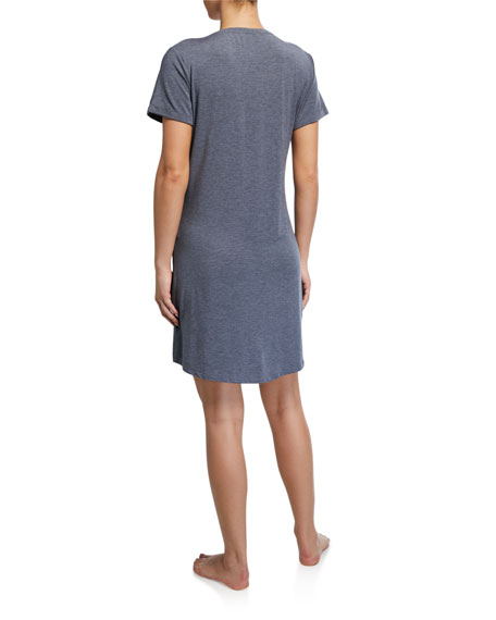 Derek Rose Ethan V-Neck Short-Sleeve Sleep Tee