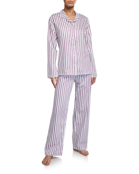 Derek Rose Milly Striped Classic Pajama Set