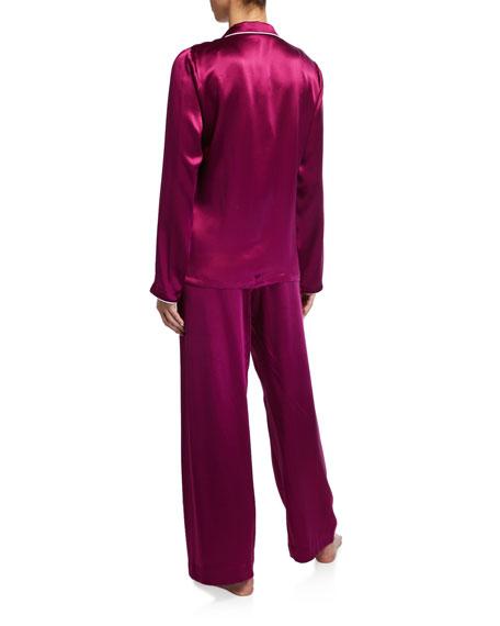 Derek Rose Bailey Classic Silk Pajama Set