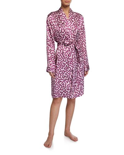 Brindisi Printed Long Kimono Robe
