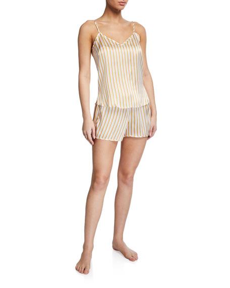 Derek Rose Brindisi Striped Camisole and Shorts Set