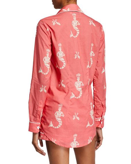 Desmond & Dempsey Sirena Long-Sleeve Shortie Pajama Set