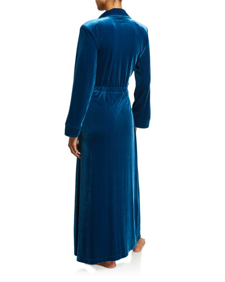 Diamond Tea Gown Long Velvet Robe