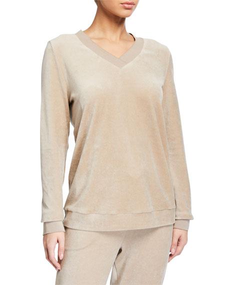 Hanro Favourites Velvet Long-Sleeve Pullover