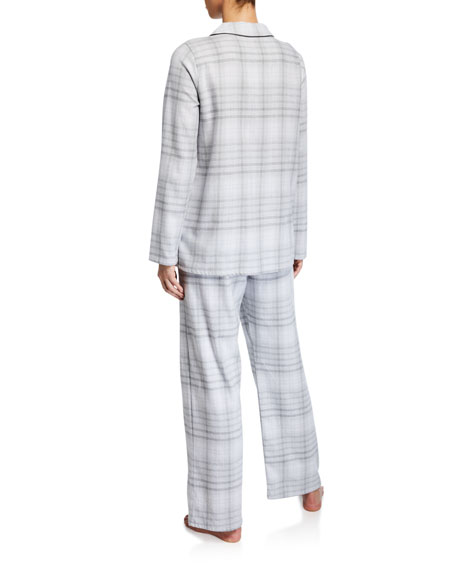 Hanro Edda Plaid Long Pajama Set