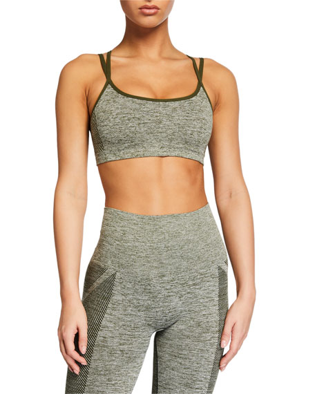 Reebok by Victoria Beckham Seamless Textured Sports Bra