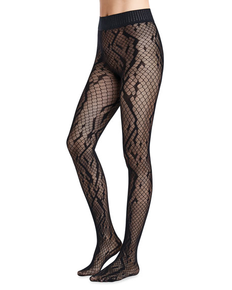 Wolford Crossband Net Tights