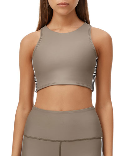 Paris Stripe Sports Bra