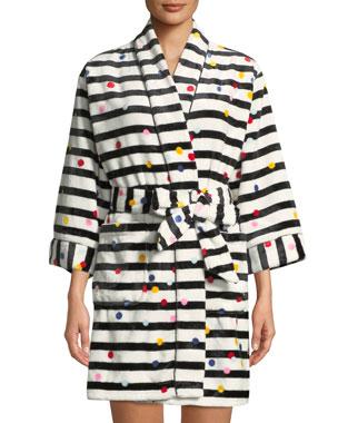 7e24e1b96d kate spade new york dotted stripe plush short robe