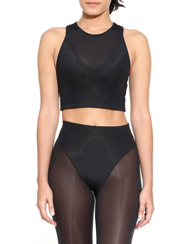 Racerback Mesh Crop Top