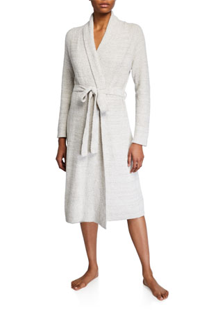 Natori Serenity Heathered-Knit Robe