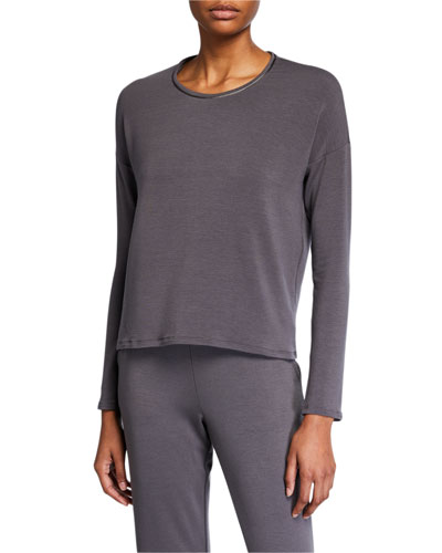 Cozy Long-Sleeve Lounge Top