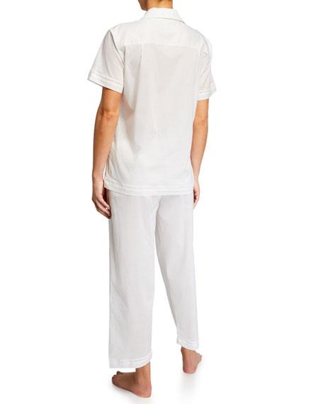 Pour Les Femmes Cotton Lawn Short-Sleeve Crop Pajama Set