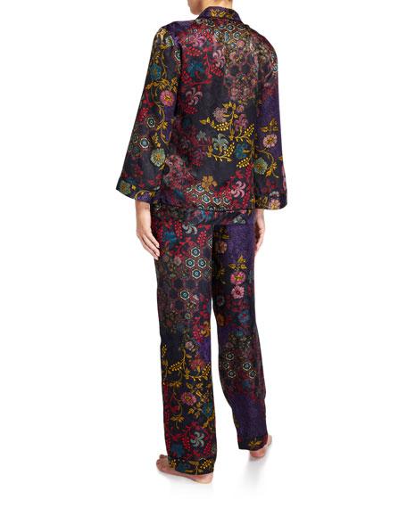Josie Natori Vintage Floral Classic Pajama Set