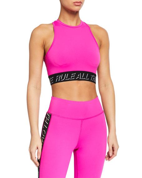 Pam & Gela High-Neck Longline Sports Bra