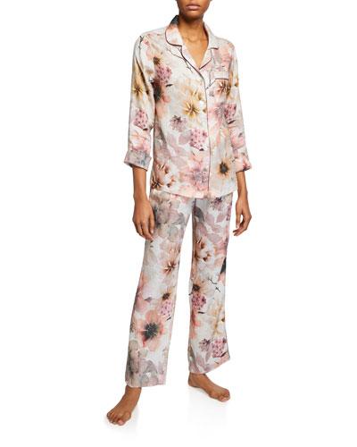 Emma Classic Floral-Print Pajama Set